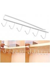 6 hängenden Haken Türhakenleiste TOPINCN Türhaken Kleiderbügel Speicherorganisator Kleidung Rack Küche Badezimmer(White)