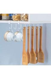 Alich Becherhalter 2 Stück unter dem Schrank Tassenhaken Nagelfreier Kaffeebecher-Halter unter dem Regal Aufhänger für Tassen Küchenutensilien Krawatten Gürtel Schals Schlüssel (weiß)