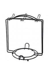 AniU Becherhalter für Kaffee Tee Tassen Regal Metalldraht Präsentationsständer für Zuhause Küche Arbeitsplatte Aufbewahrung Organizer für 6 Tassen und Untertassen (schwarz)