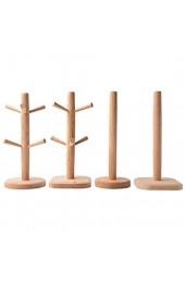 Becherbaum Holz Für 6 Becher Tassenhalter Becherhalter Kaffeetassenhalter Mit 6 Haken Halter Zur Lagerung Von Kaffee Und Tee