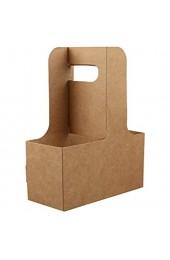 BESTONZON 5PCS 4 Pappbecher Kraft Getränkehalter Kaffee zum Auftragen von Getränken zum Tragen mit Griffen