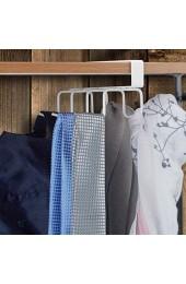 Relaxdays Haken Schrankeinsatz 8 Haken Metall ohne Bohren Hakenleiste Kleiderschrank Regal HBT 6 5x10x18 cm weiß