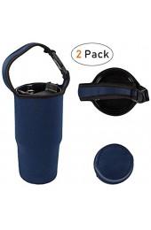 SourceTon Thermobecher und Halter für alle 880 ml Thermo-Kaffeebecher 2 Stück Schwarz und Marineblau und 2 Stück grün und schwarz