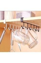 uyhghjhb Küchenregal zum Aufhängen von Geschirr Organizer Becherhalter Weiß