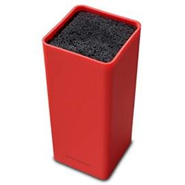 Echtwerk EW-MB-0135 Universal-Messerblock Square mit Borsteneinsatz rot Kunststoff