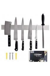 EXLECO 40cm Magnetleiste Messer Edelstahl Messer Magnetleiste Breiterer und Dickerer Extra Starker Magnet Messerhalter Geteilte Installation Wandmontage Für Küche