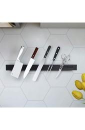 Homease Magnetleiste Messer 40 cm Magnetischer Messerhalter Selbstklebend Edelstahl ohne Bohren Aufbewahrung von Küchenmessern und Küchenutensilien Starke Magnetkraft fällt Nicht