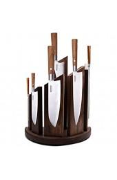 Küche Starker Magnetischer Messerblock Aus Holz FüR 6 Messer Magnetischer KüChenmesserblock Universal Messerhalter Storage Rack Walnutwood