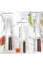 T.G.Y Messer Set 3-teiliges Küchenmesser Set Edelstahl Kochmesser by Tezcrt