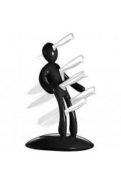 ZQYX Messerblock Edelstahl Magnet Messerhalter ohne Messer Kreativer Küchenmesserhalter Humanoider Messerblock Halter Küchenwerkzeuge Küchenbesteck Aufbewahrung Organisator Rot/Schwarz