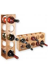 Gräfenstayn® Weinregal CUBE - stapelbar aus Bambus-Holz für 5 Wein-Flaschen zum Stellen Legen Wand-Montage erweiterbar Größe 13 5x12x53 cm (LxBxH) Weinflaschenhalter Weinkiste Flaschenregal