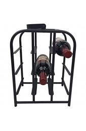 hLine Weinregal Flaschenständer für 9 Flaschen aus Metall mit Griff