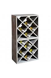Kesper Weinregal-System aus aus fsc-zertifiziertem Paulowniaholz Holzregal zur Weinflaschenlagerung (Vintage-grau)