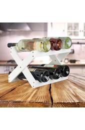 Relaxdays Weinregal Bambus X Shape 6 Flaschen weißes Regal klein Flaschenregal faltbar HBT 22 x 36 x 20 cm white