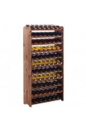 Weinregal/Flaschenregal SystemOptiplus Modell 4 für 77 Fl Holzverbundstoff braun gebeizt