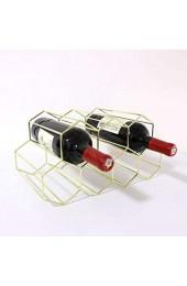 YARNOW Metall Weinhalter Rack Ständer Weinregal Lagerhalter Freistehend zu Hause Küchenschrank Eisen Racks Stand Wein Lagerung (7 Flaschen Metall Weinregal Golden)