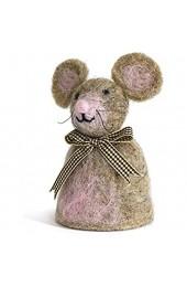 Baden dekorativer niedlicher Eierwärmer Maus mit Schleifchen aus Filz (1)