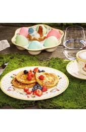 Villeroy und Boch Colourful Spring Eierbecher Premium Porzellan Weiß/Bunt