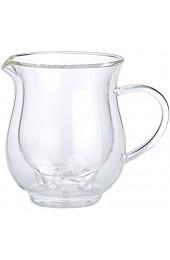 Cucina di Modena Tassen Euter: 4er-Set doppelwandige Milchkännchen im witzigen Euterdesign 200 ml (Doppelwandige Glas Milchkännchen)