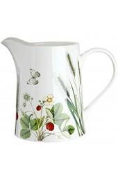 GILDE Krug aus Porzellan Wild Flowers Wilde Blume Wiese 1200 ml