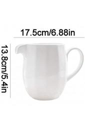 longsing Große Kapazität Klassische Reine weiße keramische Creamer mit Griff 750ml / 25.36oz Kaffee Milchkrug Zucker und Creamer Coffee Set Kit