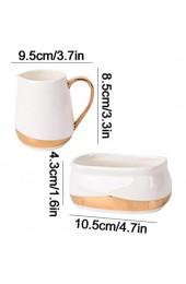 longsing Porzellan-Zucker und Creamer Set für Kaffee- und Tee-Multifunktionscreme-Krug mit Griff/Zuckerglas/Kleiner Milchbecher Goldener Rand (Style : B)