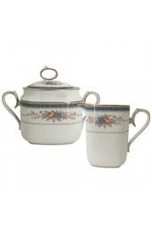 Noritake Bellcrest Kaffee-Set 2 Stück Zucker- und Milchkännchen - Sugar Bowl And Milk aus feinem Porzellan