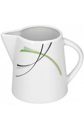 Set Zuckerdose 28cl & Milchkännchen 23cl Donna - weißes Porzellan mit Liniendekor 2-teilig