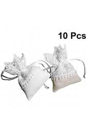 Vosarea Organza-Säckchen mit Kordelzug für Hochzeit Party Weihnachten Geschenkbeutel Partygeschenke Geschenktüten (weiß)