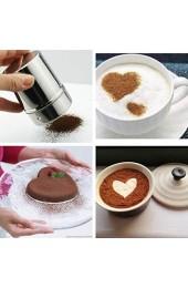 ZHOUBAA Edelstahl-Pulverzucker-Streuer feines Netzgewebe für Kaffee Schokolade Puder Sieb