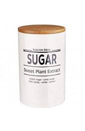 BUTLERS Karlton Bros. Keramik Zuckerdose 1100 ml zur Aufbewahrung - Vorratsdose in Weiß mit Bambus-Deckel - Porzellan
