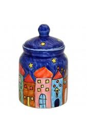 Gall&Zick Zuckerdose Set/2 Gewürzdose Zuckerspender Keramik Bemalt Blau Geschirr Zucker Gewürz Dose Behälter