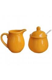 Keramik-Set mit Milchkännchen und Zucker mit Deckel Löffel Kaffeeservice