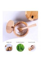 Yeyll Natürliche Holz-Salzkeller Gewürzdose Zuckerdose Pfefferbox Salzbehälter Gewürzbehälter Aufbewahrungsbox mit Deckel Küchenwerkzeug Salzhalter