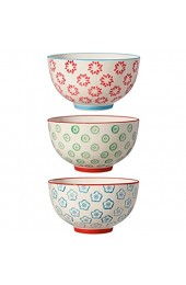Bloomingville Schalen Emma rot grün blau Keramik 3er Set