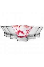 Bormioli Rocco Ypsilon - Dessertschalen aus Glas - auch für Dips geeignet - 130 mm - 6 Stück