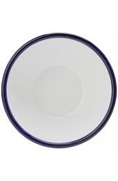 """Olympia Emaille Pudding Schüssel 155mm 5 5""""(Dia) Edelstahl Gericht Küche Weiß/Blau 6er Set"""