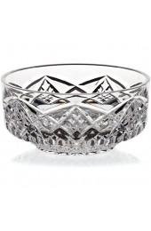 Schale Konfektschale Desertschale Bow Transparent Handgeschliffen D 11 cm Kristallglas