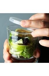 TAMUME Glas Puddingschale 4er-Set Dessertschale mit Deckelsatz