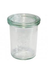 Weck Dessertglas Hochwertige Vorspeisengläser Sturzform mit Glasdeckel Weck Gläser für Vorspeisen und Desserts ideal zum Anrichten und Präsentieren von Speisen 6 Stück mit je ca. 160 ml Füllvolumen
