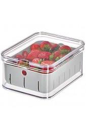 iDesign Crisp Aufbewahrungsbehälter aus Kunststoff BPA-frei 21 1 x 16 1 x 9 6 cm transparent/grau