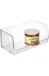 iDesign Linus 2er-Set Aufbewahrungsbehälter für Küchenschrank medium   Küchenbox für Lebensmittel oder Küchenzubehör   stapelbare offene Sortierkiste   Kunststoff transparent