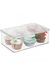 InterDesign Cabinet/Kitchen Binz Aufbewahrungsbox stapelbarer Küchen Organizer aus Kunststoff extragroße Vorratsdose mit Deckel durchsichtig
