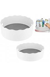 Lazy Susan Gewürzregal für Drehteller 2 Stück Küchenschrank-Organizer 360 Grad drehbar Aufbewahrungsbehälter für Speisekammer Kühlschrank Arbeitsplatte