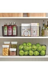 mDesign Allzweckkorb aus Metall – Aufbewahrungskorb für Küche Vorratskammer etc. – kompakter und universeller Drahtkorb – grau