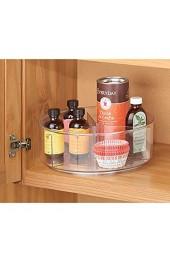 MDESIGN Lazy Susan Drehteller – praktischer Organizer für Kühlschrank Speisekammer Küchenschrank – Aufbewahrungsplatte – durchsichtig