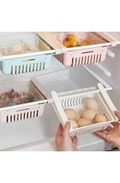ZYBB Ausziehbarer Kühlschrank Aufbewahrungsbox Halter Lebensmittel Organizer Schublade Regal Richtig 4PCS/ weiß
