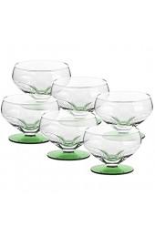 6 X Eisschale Dessertschale Eisbecher Glas Liguria Hellgrün 9 cm Gelato Vero