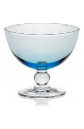 CRISTALICA Eisschale Eisbecher Dessertschale 6er-Set aquablau Piccolo Colori 280ml Gelato