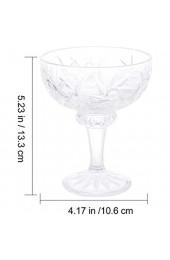 DOITOOL 2Pcs Klassische Footed Dessert Tassen Kristall Klar Glas EIS Schalen Perfekte für Parfait Obst Salat Oder Pudding Parfaits EIS Transparent